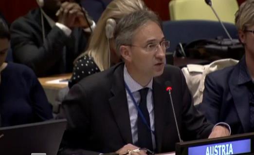 Prof  August Reinisch makes Statement on behalf of Austria